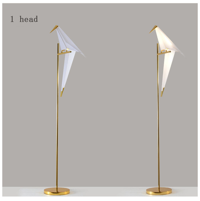 2020 Wholesale Nordic modern style acrylic restaurant bedroom bird floor lamp home decor LED simple floor light