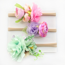 Fancy Headwear 3Pcs A Set Photography Props Baby Girl Fabric Artificial Flower Headband