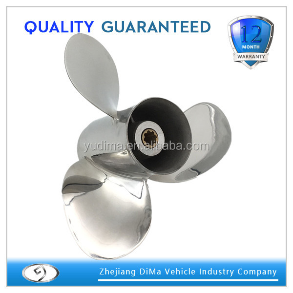 PowerWing Stainless Steel Marine Boat Outboard Propeller For Yamaha Engine 9.9-15HP