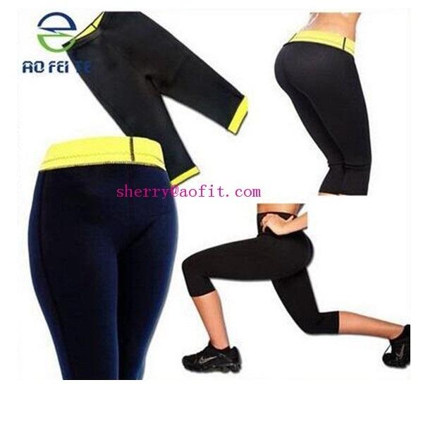 Womens Neoprene BODY SHAPER PANTS Black Slim Waist Yoga Vest Shapers S M L XL