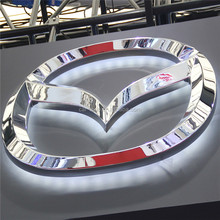 New Design Custom Outdoor Or Indoor Thermform Led Car Logo Light
