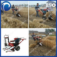 self walking reaper binder and combine mini harvester for rice / wheat