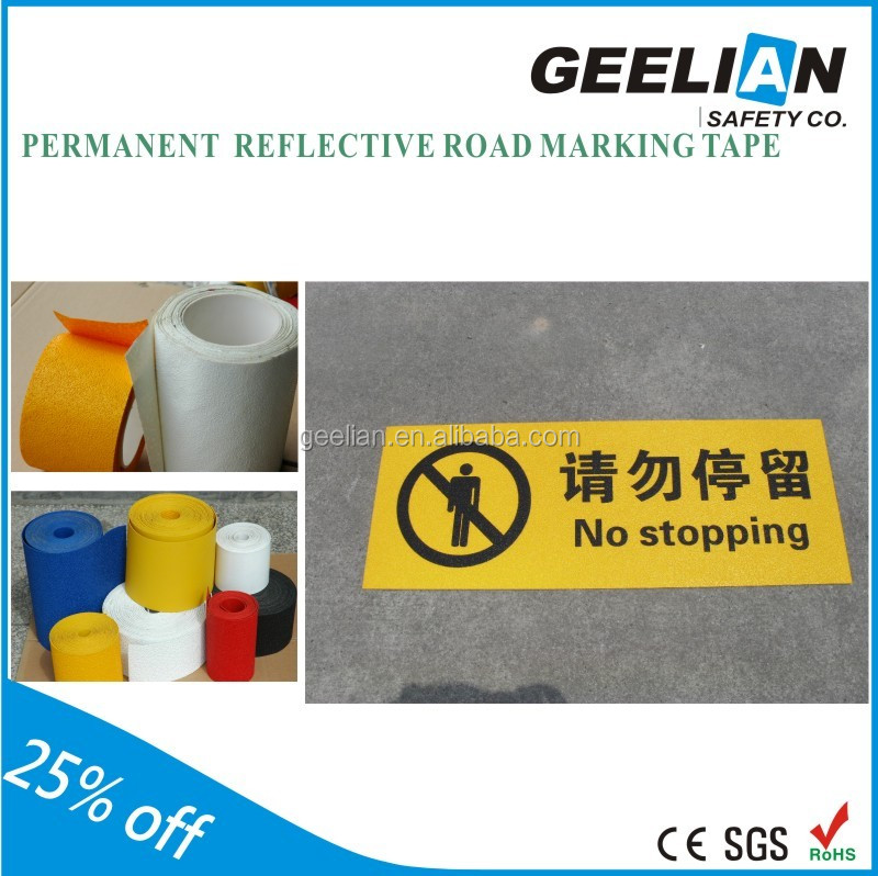 China wholesale thermoplastic road marking lime green reflective tape in alibaba