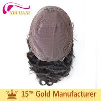 Gold supplier XBL original human hair short afro kinky lace human hair wigs