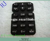 Black PU coating silicone mobile phone keypad