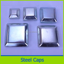 square dome galvanized steel fence post cap