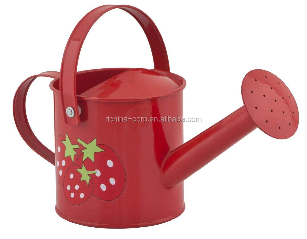 Galvanized Metal Watering Can, colorful, made in china