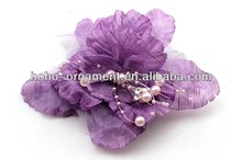 2014 Fashion jewerly silk wedding brooches and buckles