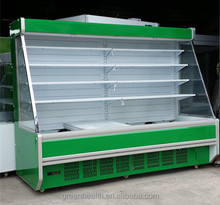Green&Health supermarket multideck open chiller used refrigerated produce display cooler factory direct sale