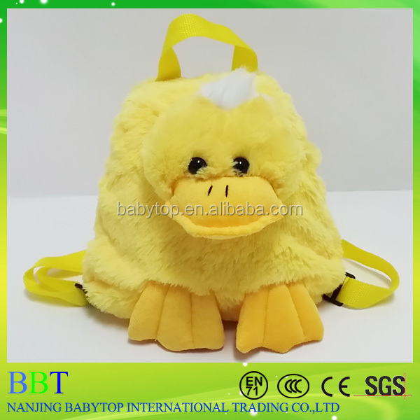 dancing duck toy backpack made by manufacturing company