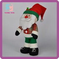 18 cm Father Christmas toys plush with ICTI made in Shenzhen
