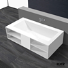Europe Popular solid surface freestanding corner bath tub