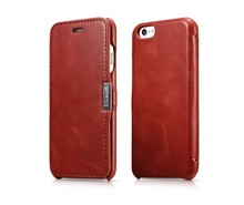 Retro Luxury Genuine Leather Metal Logo Magnetic Flip Case For iPhone Original Phone Case Accessories Fundas