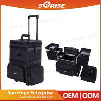 New design fashionable nylon trolley travel personal beauty cases for hairdresser