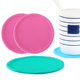 Small food grade leakproof silicone coaster,High temperature resistant round non-slip pad