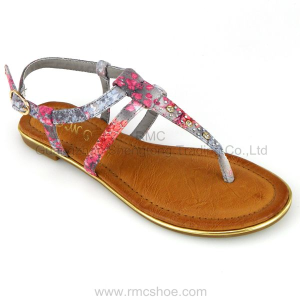 RMC flat beautiful ladies shoes brand name