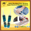 300ml Rtv Black Door Window Super Neutural Silicone Sealants