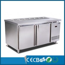 Commercial cooling fan salad bar undercounter refrigerator with CE Approve