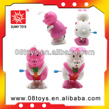 promotional wind up power plastic toy rabbits for children