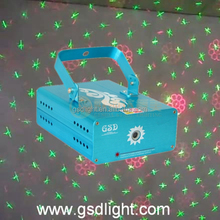 Hot selling six pattern mini laser stage lighting projector
