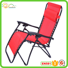 Sleeping folding indoor and outdoor recliner zero gravity chair with soft pillow XY-145