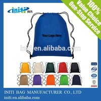 2015 Hot New Products cheap polyester drawstring bag with high quality