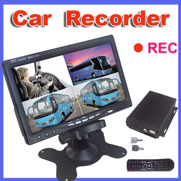 2016 new car video camera recorder hd for car with 4 CH video inputs