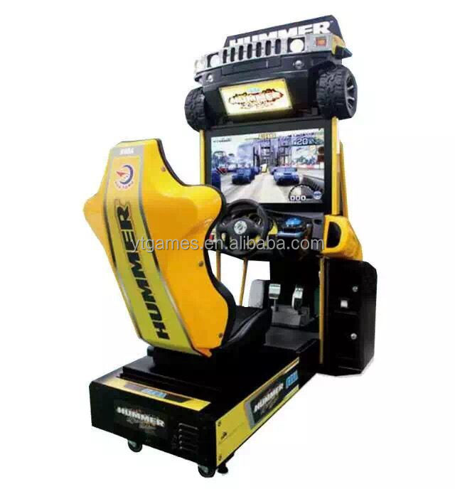 2016 hot sale car racing hummer simulator coin operated arcade video game machine kids and adults driving 32lcd electric sale