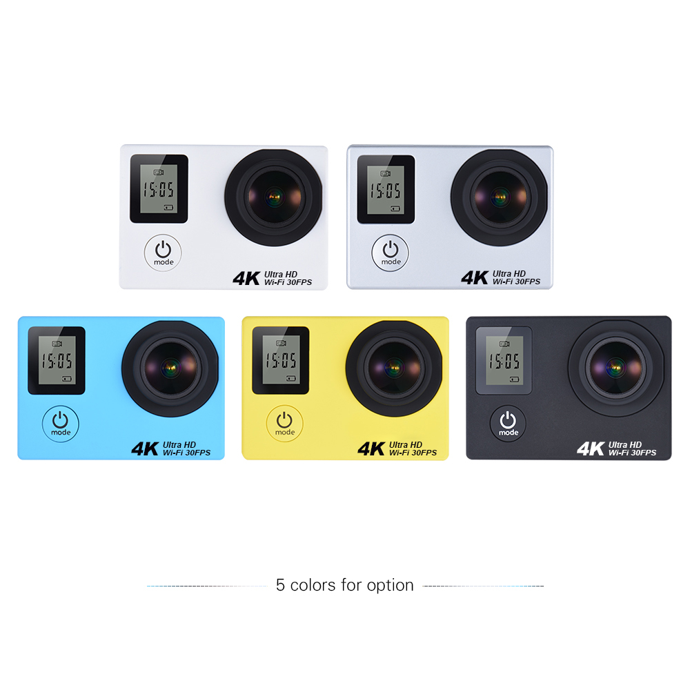 ISO9001 factory Wholesale Gopro style 170 degree 6G lens Dual screen 16MP 4K Action camera