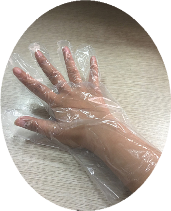 High Quality Plastic HDPE Disposable Hand Gloves for Kitchen Use