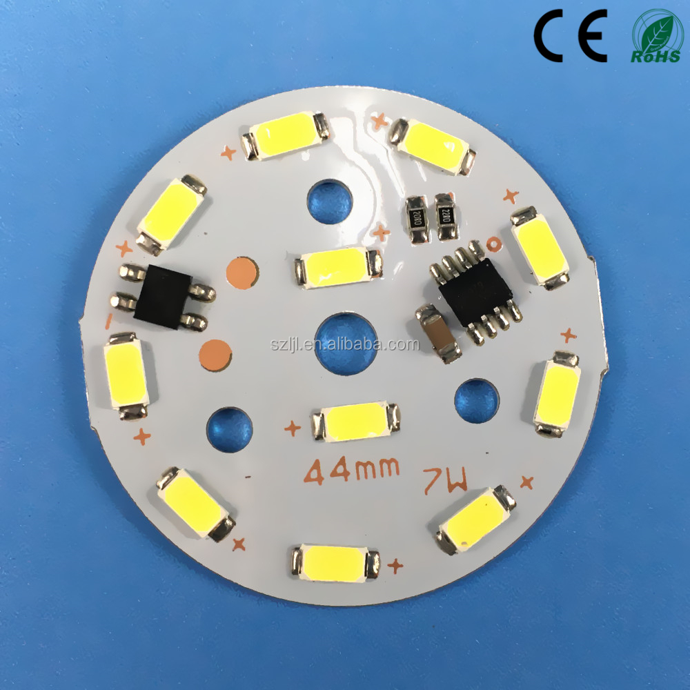 AC220V Round led pcb <strong>module</strong> 7w driverless aluminium pcb with IC Driver