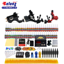 Solong hot sale top quality Professional 3 guns tattoo starter kit/tattoo guns/ high quality complete tattoo kit