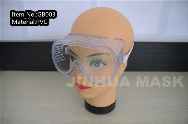 dustproof PVC safety goggle