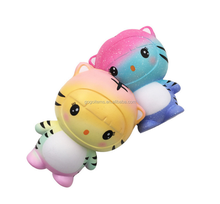 2018 Water Custom Jumbo Galaxy Bear Kawaii China Squishy Supplier Slow Rising Animal Foam Toys Stress Balls For Stress Relief