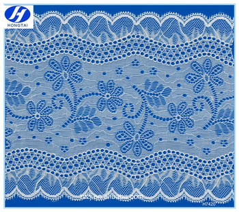 Hongtai 18cm french fancy floral lace design fabric