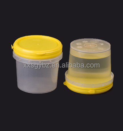 small white plastic bucket with handle 500 ml