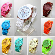 Mostly fashion geneva silicone wrist watches wholesale with cheaper