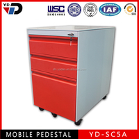 Luxury hospital steel bed side cabinet in Africa market