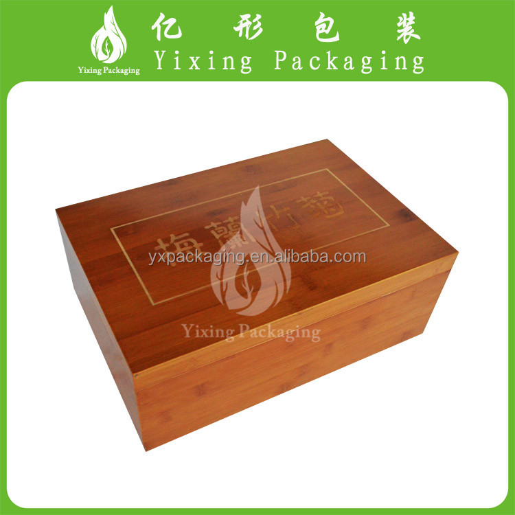 YI XING popular new design fancy style wooden boxes with a carving tray to order