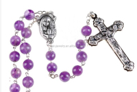 925 sterling silver amethyst bulk rosaries for women