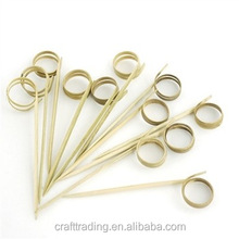 decorative picks bamboo finger food sticks for steak / pizza / fruit