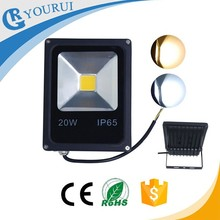 High lumen bridgelux outdoor ip65 dimmable cob led flood light 20 watt