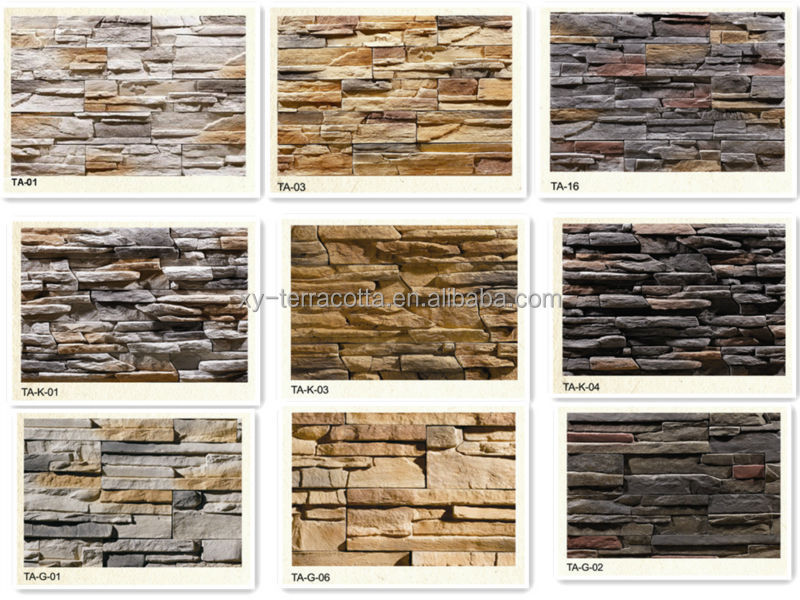 artificial man-made stacked wall cladding stone