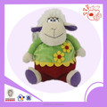 2015 New sitting sheep plush toys , lovely candy-bag sheep stuffed
