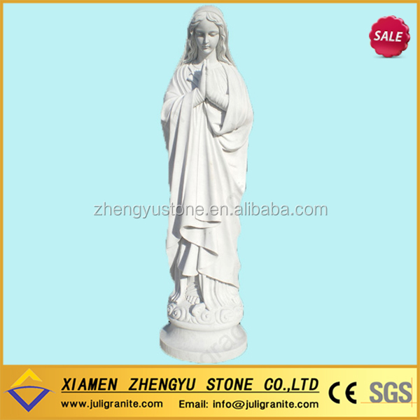 For sale carving white marble granite stone virgin mary statue