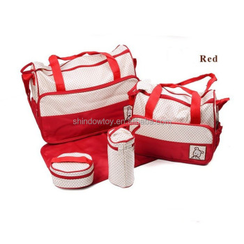 2014 fashion baby bag 5 in 1 cheap affordable 7 colors portable Gender Unsex