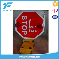 Bus safety series led stop traffic sign board for Arab country