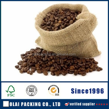 Logo Coffee Beans Package Jute Pouch Drawstring Bag,jute bags for coffee beans