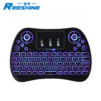 2018 New product colourful backlight mini Keyboard t2 touchpad t2c rechargeable battery inside