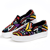 Women fashionable graffiti canva slip on casual platform shoes made in china